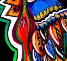Folk Feathers Sticker