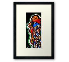 Folk Feathers Framed Print