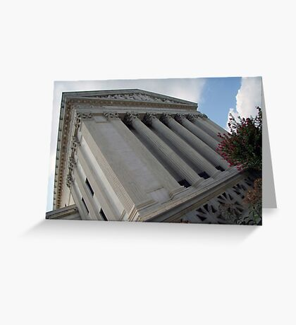 Behind The Supreme Court Greeting Card