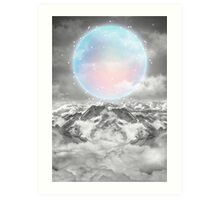 Places Neither Here Nor There (Guardian Moon) Art Print