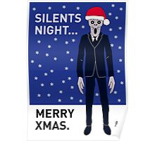 Doctor Who Silents Xmas Card Poster