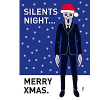Doctor Who Silents Xmas Card Photographic Print