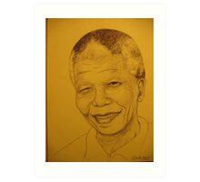 Mr Madiba 'the icon' Art Print