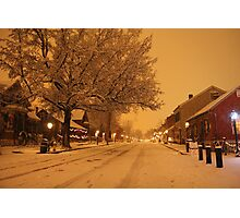 Historic St Charles in the Snow Main Street Photographic Print