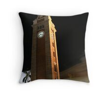 Clock Tower Throw Pillow