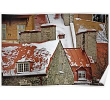 Angular Rooftops, Old Quebec Poster