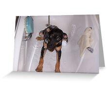 I HATE BATH TIME! Greeting Card