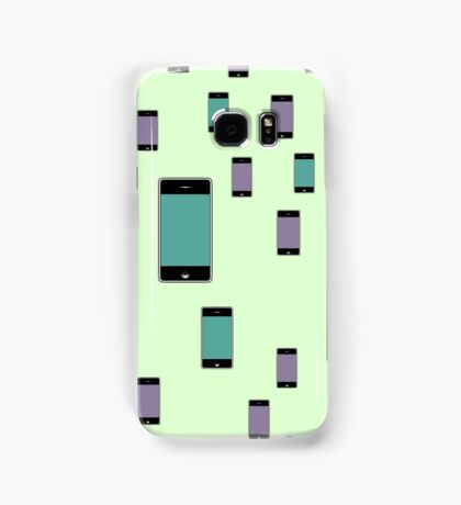 Pattern with smartphones mockups. Samsung Galaxy Case/Skin