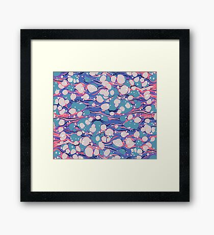 Hip Hop Love Psychedelic Purple Marble Paper Surf Pepe Psyche Framed Print
