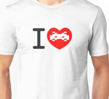 I Love Space Invaders Unisex T-Shirt