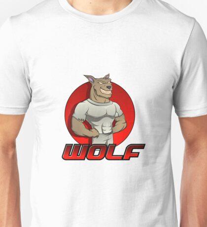 Cartoon werewolf on the red  Unisex T-Shirt
