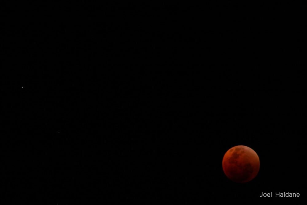 Red Moon I by Joel  Haldane