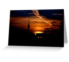 Berliner Fernsehturm (TV Tower ) Greeting Card