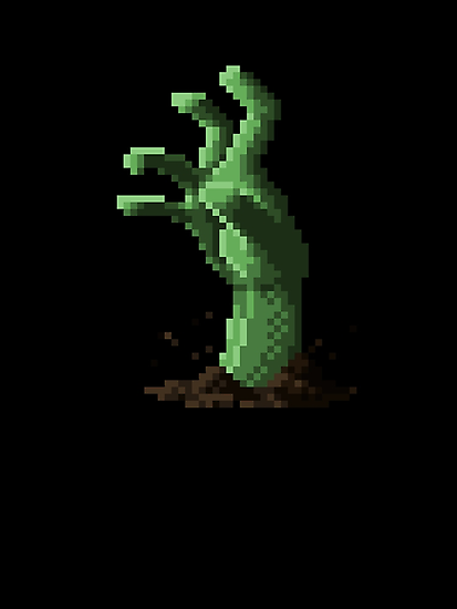Zombie Grasp Pixels by Ollie Chanter