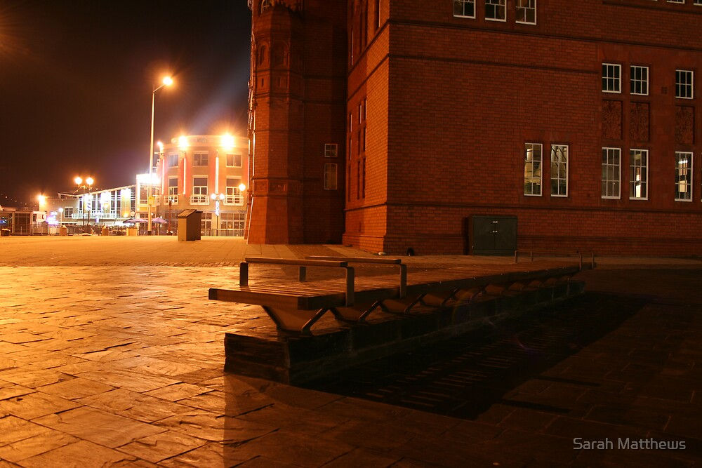 Bench at Cardiff Bay by Sarah Matthews