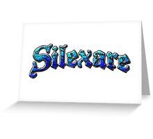 Silexare Text on White Greeting Card