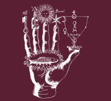 Renaissance Alchemy Hand with Symbols by Pixelchicken
