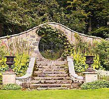 Leith Hall Garden Architectural Details - (Huntly, Aberdeenshire, Scotland) by Yannik Hay