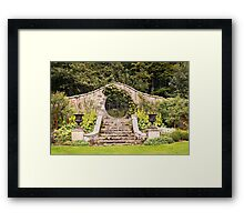 Leith Hall Garden Architectural Details - (Huntly, Aberdeenshire, Scotland) Framed Print