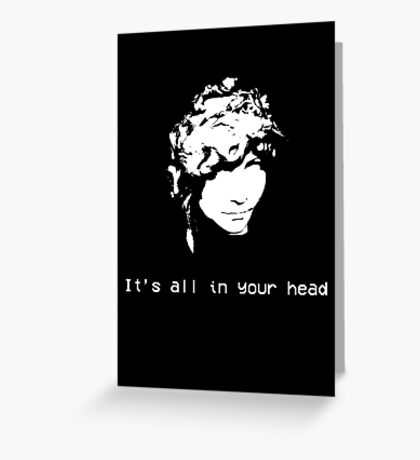 It's All in Your Head Statue Greeting Card