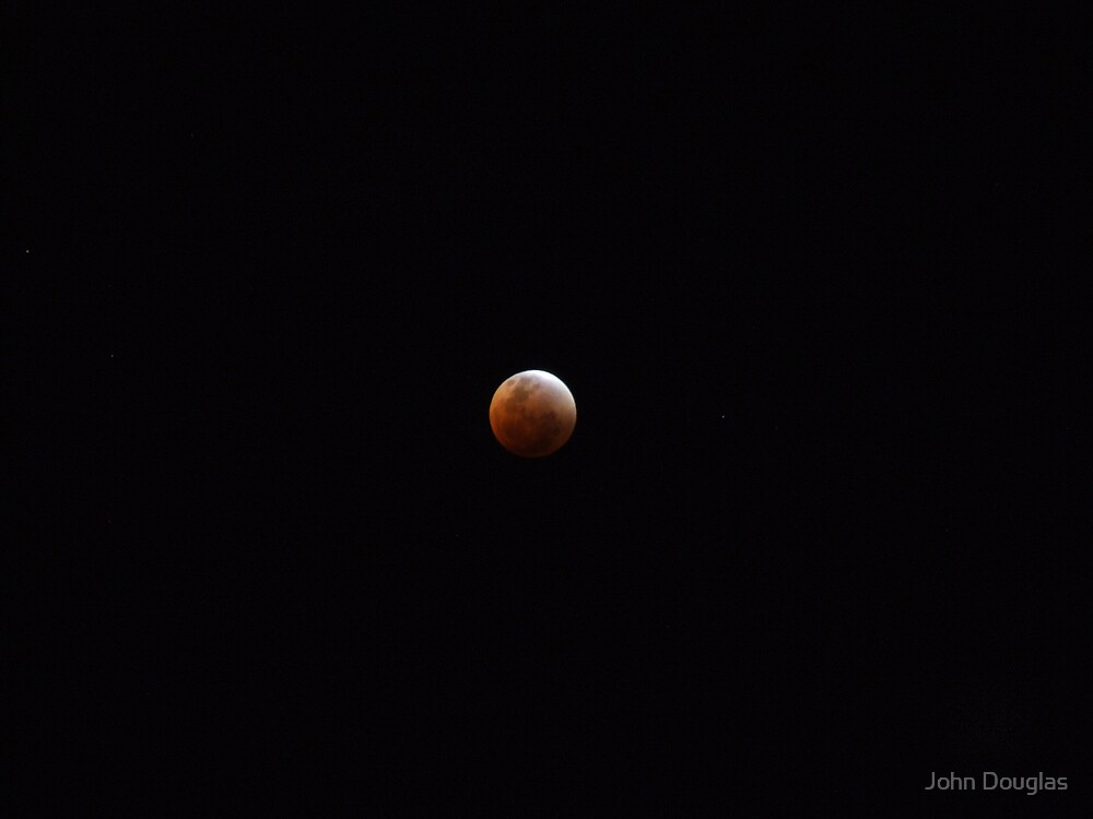 Full Lunar Eclipse Red by John Douglas