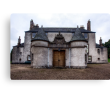 Leith Hall Back Entry - (Huntly, Aberdeenshire, Scotland) Canvas Print