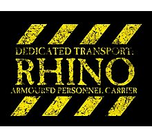 Dedicated Transport: Rhino Photographic Print
