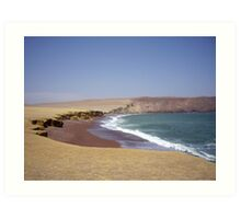 Red Beach, Pisco, Peru Art Print