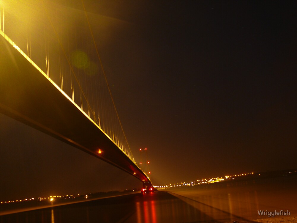 Humber bridge By Night by Wrigglefish