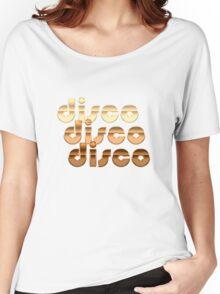 Metallic Seventies Disco Emblem  Women's Relaxed Fit T-Shirt
