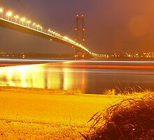 Humber Bridge Stripes by Wrigglefish