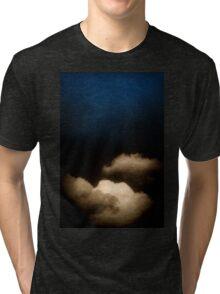 Clouds in a scratched darkness Tri-blend T-Shirt