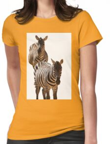 couple of zebra Womens Fitted T-Shirt
