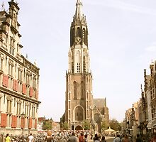 "Old Town Square, Delft and the ""New Church"" by Clive  Cashman"
