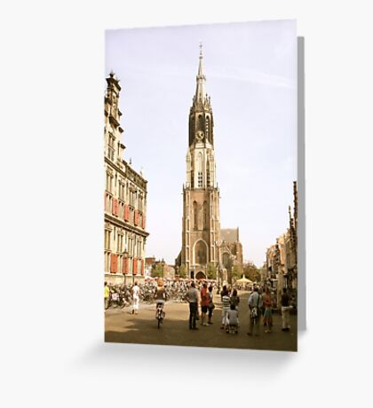 "Old Town Square, Delft and the ""New Church"" Greeting Card"