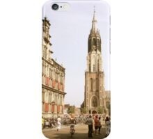 "Old Town Square, Delft and the ""New Church"" iPhone Case/Skin"