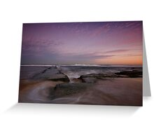 Bar Beach at Dusk 3 Greeting Card