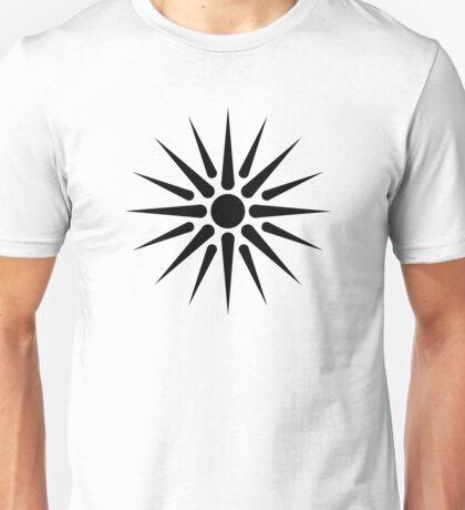 Black Vergina Sun Unisex T-Shirt