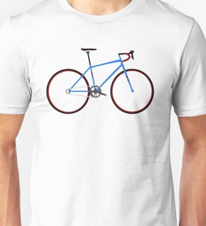 Road Bike Blue Unisex T-Shirt