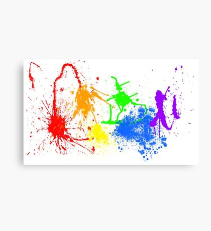 Retro Pride Splat Canvas Print
