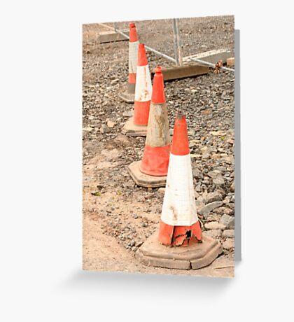 Traffic cones Greeting Card