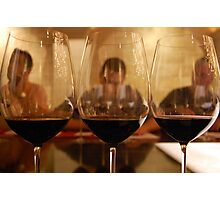 Reflection of wine tasting Photographic Print