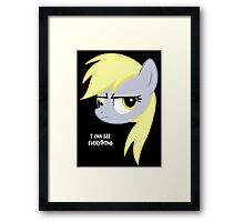 I can see everything - Derpy hooves Framed Print