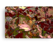leaf background Canvas Print