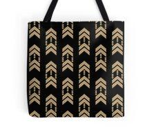Gold Chevron - geometric chevron pattern in black and gold glitter Tote Bag