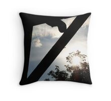 Fence 3 Throw Pillow