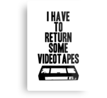 Videotapes Metal Print