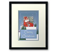 A Traditional Merry Christmas Greeting Card Framed Print