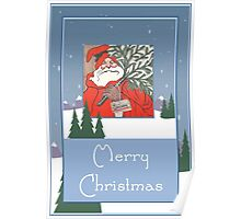 A Traditional Merry Christmas Greeting Card Poster