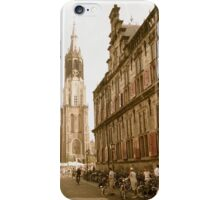 "Old Town Delft: Market Square, City Hall, ""New Church"" iPhone Case/Skin"